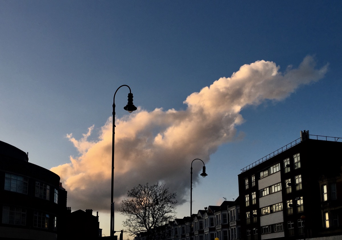 Big cloud over Muswell Hill