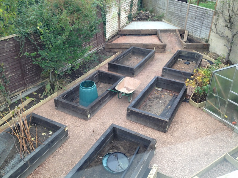once the groundwork was done the shed went up it was custom made to fit the odd space not triangular but a rhombus