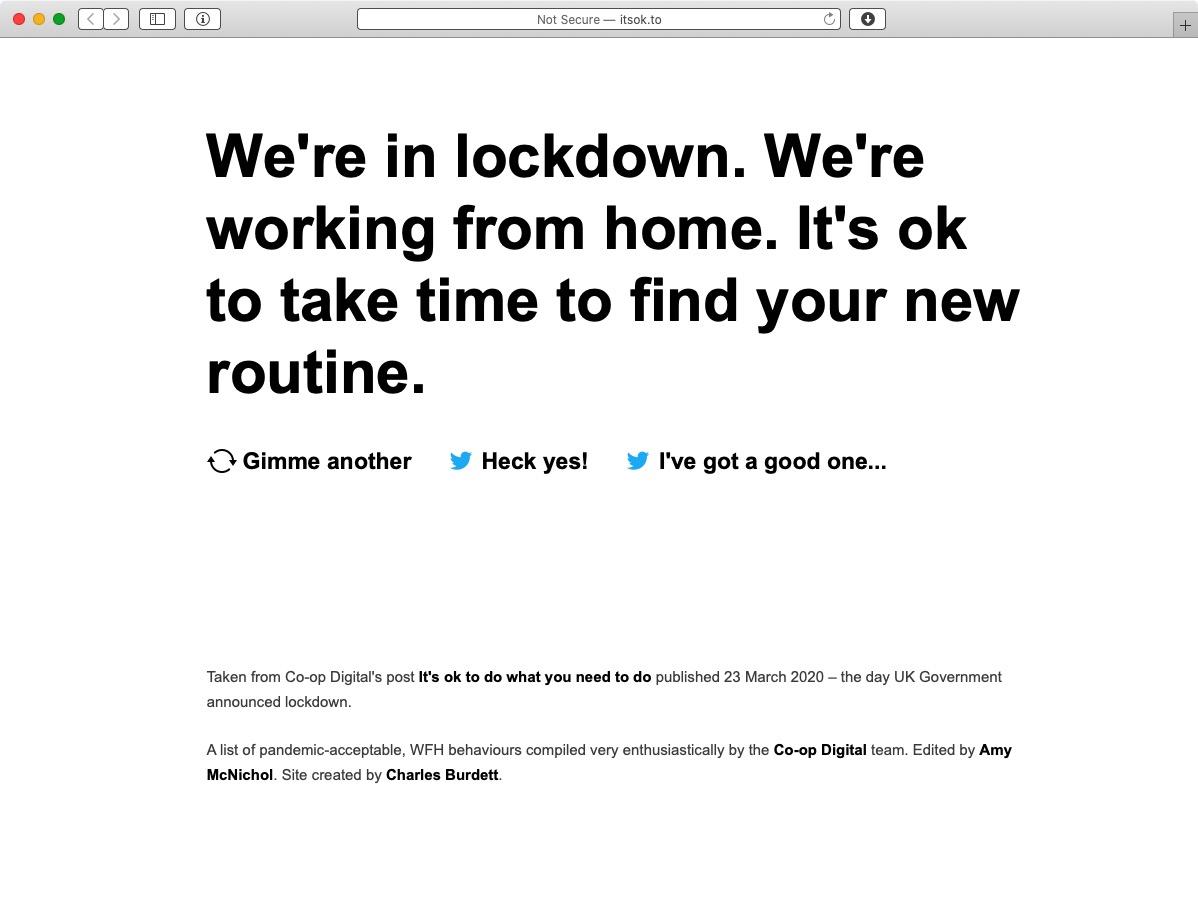 Screenshot of itsok.to website, by Co-op Digital