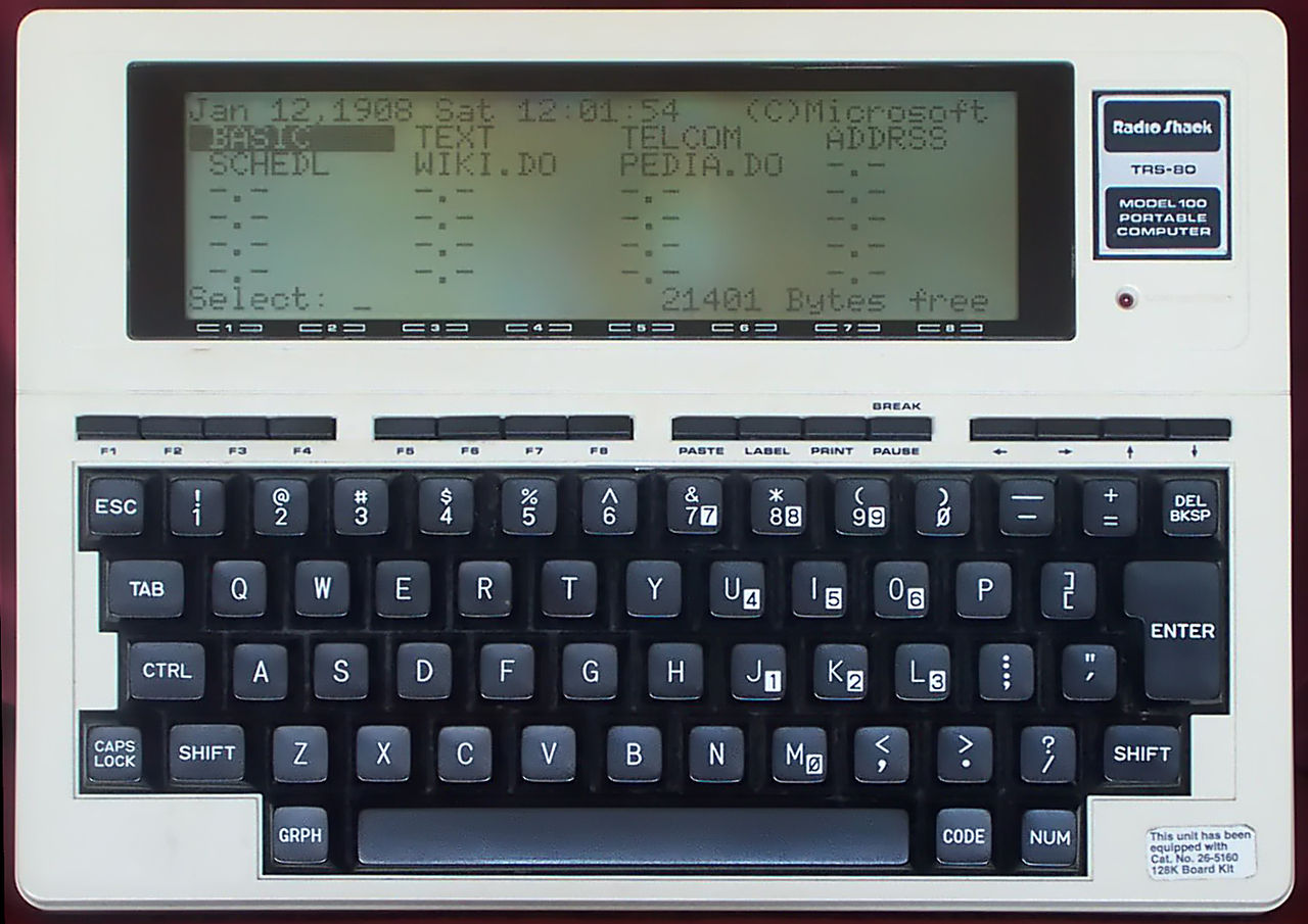 A TRS-80, photo from Wikipedia